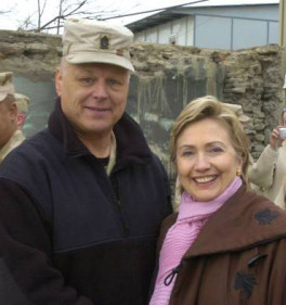 Duane Fredrickson and Hillary Clinton