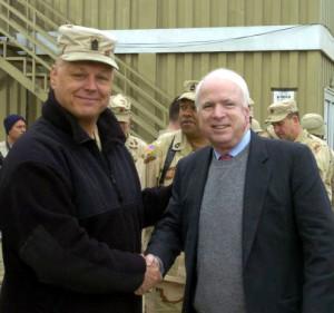 Duane Fredrickson and Senator John McCain